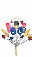 London 80th birthday cake topper decoration - free postage